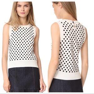 Marc Jacobs polka dot sleeveless sweater shell